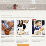 cours de pâtisserie de l'école Nicolas Bernardé