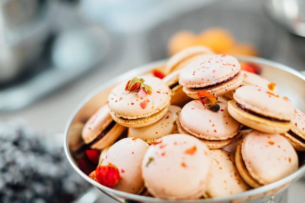 Macarons prêts à être dégustés
